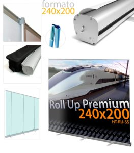 Banner roll up 240x200