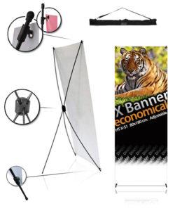 porta banner X economical 80x180 cm